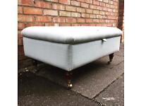 Large Laura Ashley upholstery storage footstool