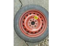 Spare space saver wheel