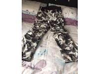Men's Spada Grey Combat Motorcycle Trousers