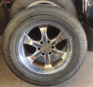 """Factory Toyota 20"""" wheels and tires"""