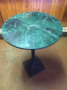High standing bar tables and circular tables