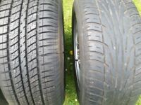 BRAND NEW TYRE. Bmw alloys set of with tyres. 205/60R15, 3 series,