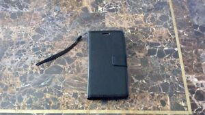 LG G3 Black Genuine Luxury Leather Case Cover + Screen Protector