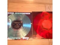 "Bruce Springsteen rare vinyl Records x2 12"" LPs"