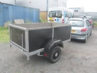 nice 7/4 metal box trailer £150 ready to use more in stock