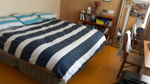 King bed in great condition (mattress and boxspring)