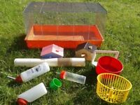 Hamster Cage and Accessories - Houses - Bottles - Wheels etc