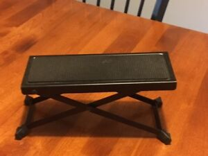 metal music stand and foot rest