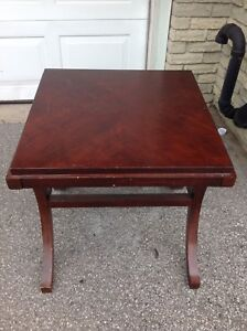 Wood table with beautiful curved legs