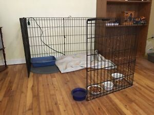 Caged exercise pen