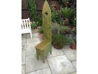 Wooden gothic style garden chair