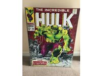 Marvel A3 Hulk Spiderman canvas x2
