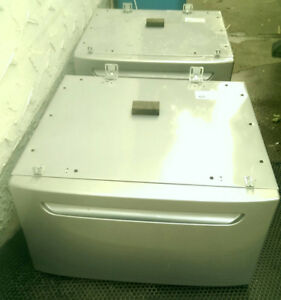 Silver Set of Pedestals for Washer Dryer