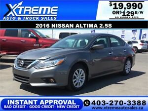 2016 Nissan Altima 2.5S $109 B-WEEKLY APPLY NOW DRIVE NOW