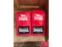 Lonsdale speed mitts and boxing gloves