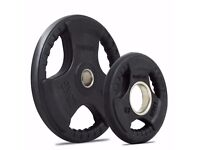 Bodymax Olympic Rubber Radial Weight Plates 2x15kg Perfect Conditions