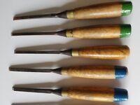 Vintage Marples woodworking chisels