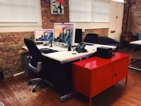 Affordable Desk Space in Warehouse Office, Shoreditch/Bethnal Green Area **Includes ALL bills**