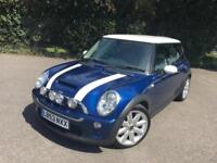 MINI COOPER 1.6 S BLUE 3 DOOR HATCHBACK PETROL MANUAL 2003
