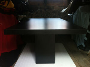 Black Rectangular Pedestal Dining Table