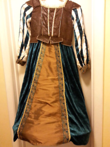 NEW Green and Brown Fairy Tale dress age 7-8