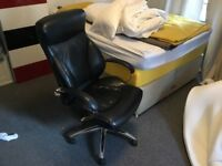 FREE £0.00: Great condition Leather (Faux?? Looks real) office swivel chair and mattress.....