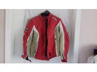 Ladies size 12 leather motorbike jacket