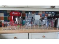 Collection of 18 beer festival pint glasses.