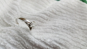 Engagement ring, white gold with .56 ct diamond