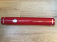Official University of Edinburgh Degree Scroll Tube - Amazing Condition