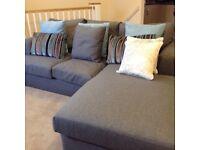Next Stratus Corner Sofa - Left Hand Chaise - Dove Grey