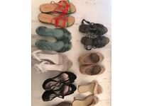 Mixed bag. Size 9 ladies wide shoes