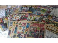 LARGE COLLECTION OF 54 VINTAGE MARVEL COMICS. SPIDERMAN COMICS WEEKLY 1973-77