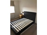 For Sale: Next Double Bed Frame in Brown Faux Leather - Great condition - £50 ono