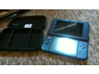 *New* Nintendo 3DS XL Blue with case + game *perfect condition*