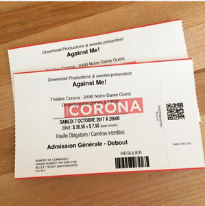 Against Me! - Corona Theatre, Montreal - Oct 7th