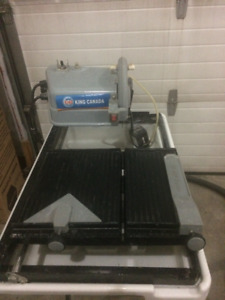King Canada 7 Inch Wet tile saw with Laser