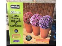 Purple Rose 28cm Topiary Ball
