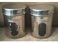 2 Stainless Steel Food Containers