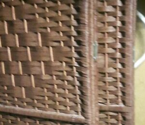 Brown wicker wall dividers for sale