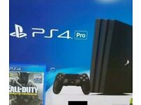 Ps4 pro with 15 games and 4 controllers
