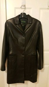 Women's Leather Coat, Small