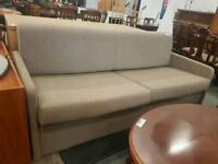 Modern fawn two seater pull out single sofa bed