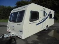 2013 Bailey Pegasus ll Rimini 4 Berth Caravan For Sale. Fixed Single Beds.