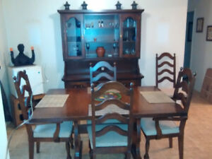Dinning set (6 chairs) and Buffet for sale ( All Wood )