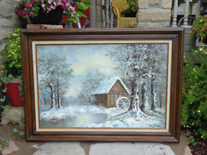 "Original Framed ""Emery Walton"" Oil Painting"