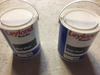Two tins of cream paint