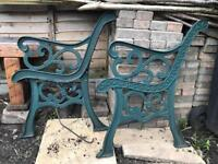 Cast iron bench ends in very good condition!!