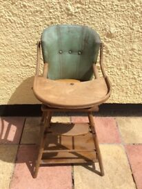vintage baby's high chair 1940's