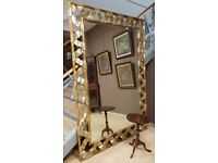 huge gold Harrison and Gil designer mirror, with certificate to rear
